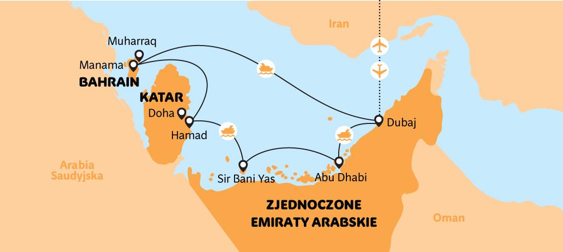 Rejs u wybrzeży Bahrajnu, Kataru i Emiratów Arabskich - wśród perłowych fal